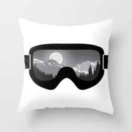 Moonrise Goggles - B+W - Black Frame | Goggle Designs | DopeyArt Throw Pillow