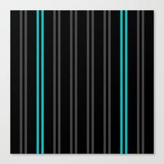 Charcoal Gray/Teal/Black Vertical Stripes Canvas Print