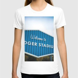 Welcome to Dodger Stadium | Los Angeles California Nostalgic Iconic Sign Art Print Tapestry T-shirt