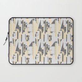 Black, Yellow and Gray Architectural Print Laptop Sleeve