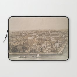 Vintage Pictorial Map of Charleston SC (1851) Laptop Sleeve