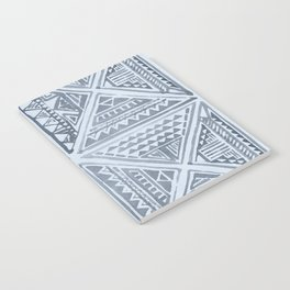 Simply Tribal Tile in Indigo Blue on Sky Blue Notebook
