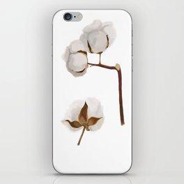 Cotton flower iPhone Skin