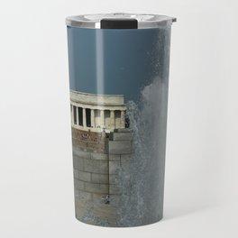 Memorial Fountain  And Lincoln Memorial Travel Mug
