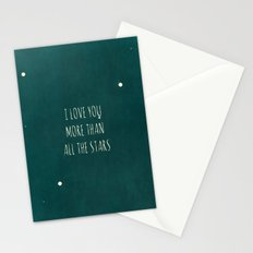 More Than All the Stars - Teal Stationery Cards