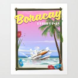 Boracay Philippines beach Art Print