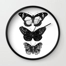 Vintage Butterfly | Butterflies Art | Insect Art  | Entomology Art | Monarch Art | Swallowtail Art  Wall Clock