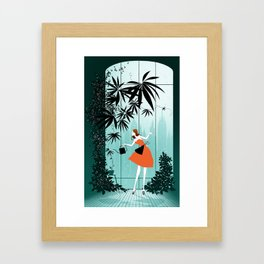 City garden Framed Art Print