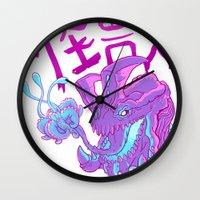 kaiju Wall Clocks featuring Kaiju Killer by Press Start