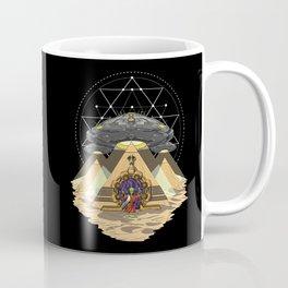Alien Abduction Anunnaki Space Egyptian Pyramids Coffee Mug