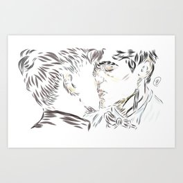 Malec kiss Art Print