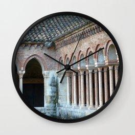 Romanesque San Zeno Church Cloister Verona, Italy Wall Clock