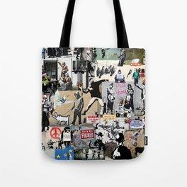 Banksy Collage Tote Bag