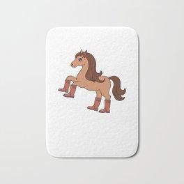 I Need My Booty Sleep Funny Horse Lover Gift Bath Mat