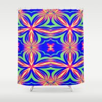 psychedelic Shower Curtains featuring Psychedelic  by 2sweet4words Designs