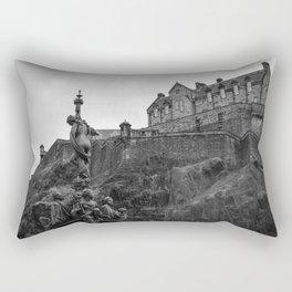 Edinburgh Castle and Fountain Rectangular Pillow