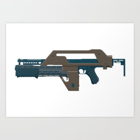 M41A Pulse Rifle BB Art Print