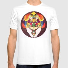Follow Me Mens Fitted Tee White MEDIUM