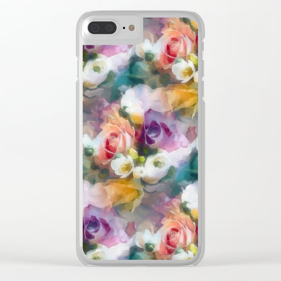 Fresh spring floral pattern Clear iPhone Case
