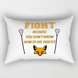 "The Foxhole Court – ""Fight"" – All For The Game Rectangular Pillow"