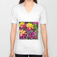 ombre V-neck T-shirts featuring Ombre by Darkest Devotion
