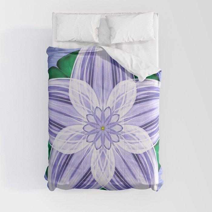 Frozen Floating Flower Comforters