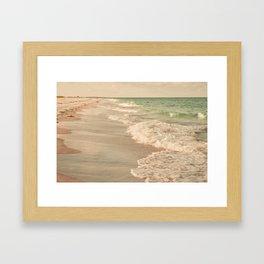 Tropical Beach Love Framed Art Print
