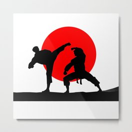 Karate Japan Metal Print