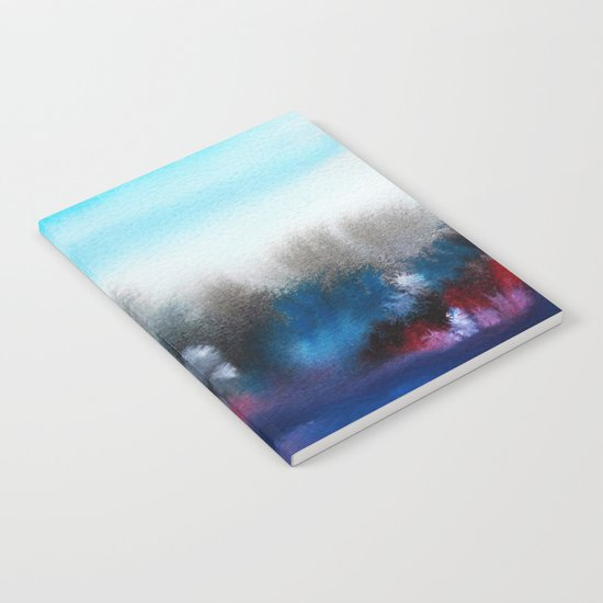 Watercolor abstract landscape 25 Notebook