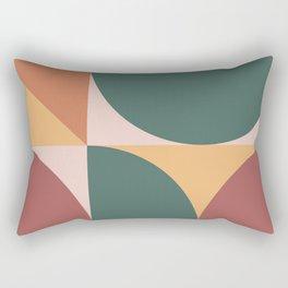 Mid Century Modern Geometric Abstract 231 Rectangular Pillow