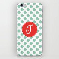 Monogram Initial T Polka Dot iPhone & iPod Skin