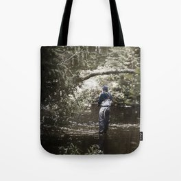 Trout River Fishing Tote Bag