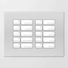 Ten Commands Canvas Print