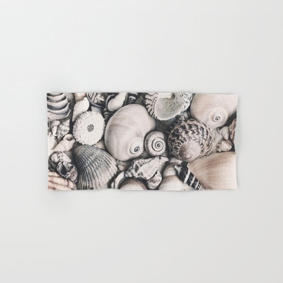 Sea Shell Collection vintage style monochrome Hand & Bath Towel