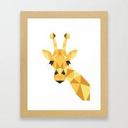 a giraffe Framed Art Print
