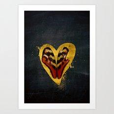 Butterfly wings in my heart Art Print