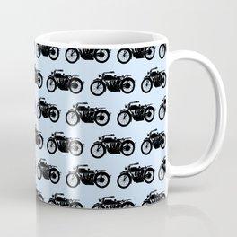 Antique Motorcycle // Light Blue Coffee Mug