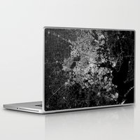 houston Laptop & iPad Skins featuring Houston map by Line Line Lines