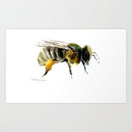Bee, bee design honey bee, honey making Art Print