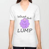 lumpy space princess V-neck T-shirts featuring Kawaii Lumpy Space Princess by AstralWisp