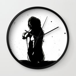 Negative Night Wall Clock