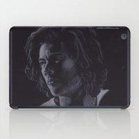 harry styles iPad Cases featuring Harry Styles VII by Jen Eva