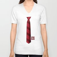 shaun of the dead V-neck T-shirts featuring SHAUN OF THE DEAD by VineDesign