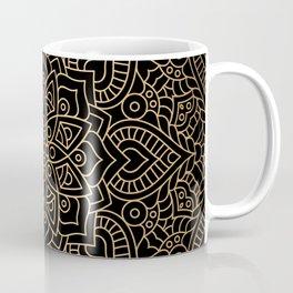 Black Gold Mandala Coffee Mug