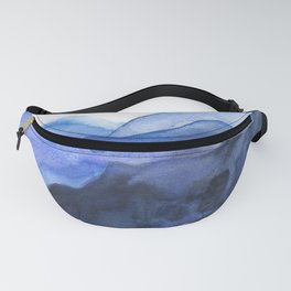 Mountain Abstract Watercolor Fanny Pack