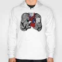 lungs Hoodies featuring Heart&Lungs by Emma J. Hardy