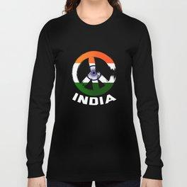India Peace Sign T Shirt Long Sleeve T-shirt