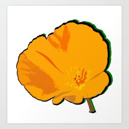 DBM California Poppy 2 Art Print