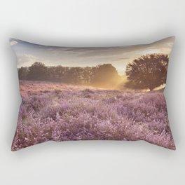 I - Blooming heather at sunrise, Posbank, The Netherlands Rectangular Pillow
