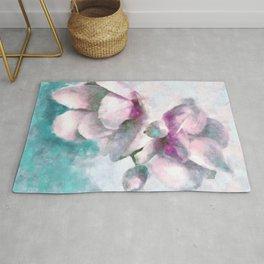Impressionist Magnolias Rug